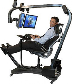 Ergonomic chair.