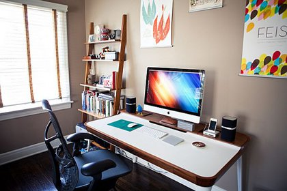 Home office setup.